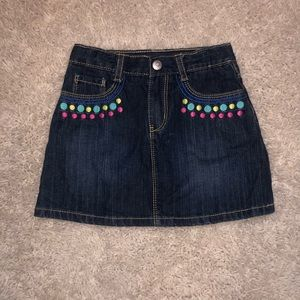 Gymboree size 5 denim skirt